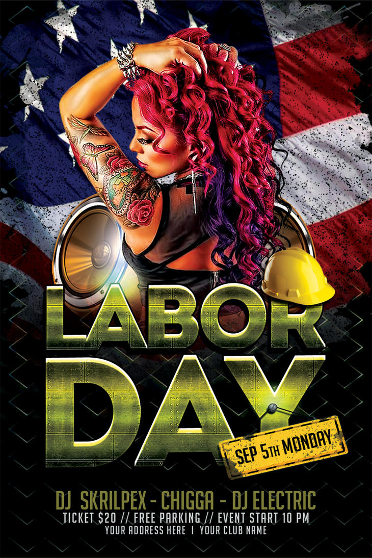 Labor Day Flyer PSD Template By Ayumadesign ...