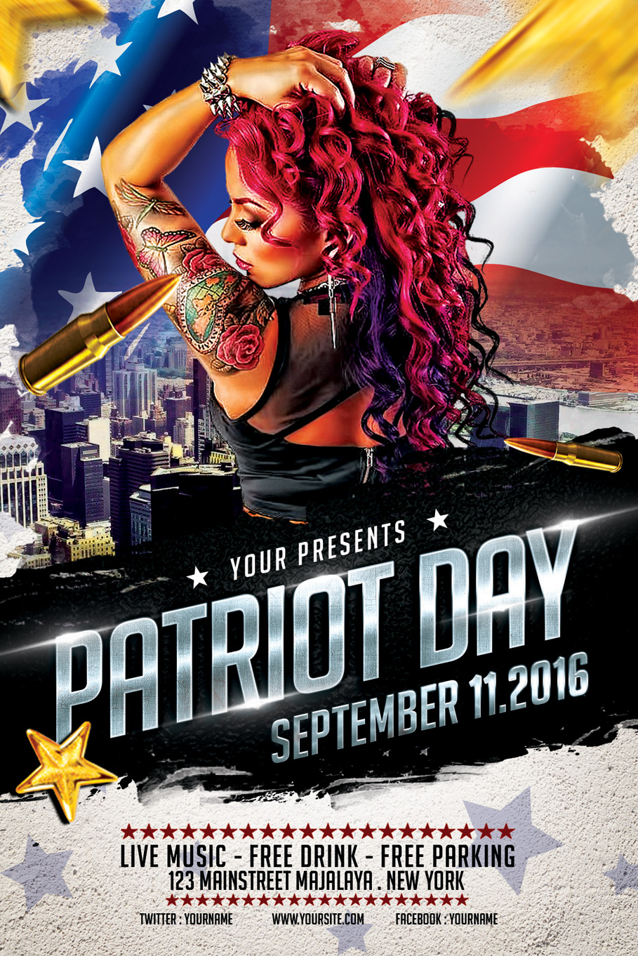 StyleWish 6 0 Patriot Day Flyer Template By Ayumadesign