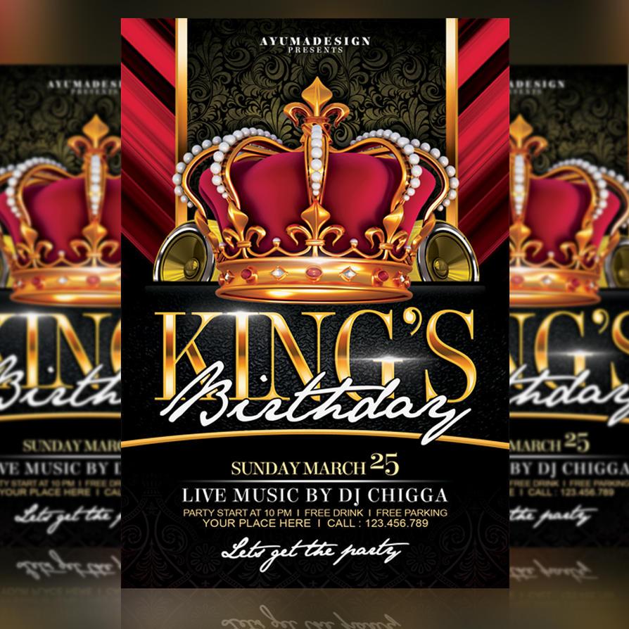 kings birthday flyer by ayumadesign on deviantart