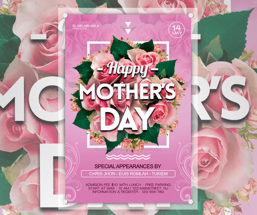Freebie Mothers Day Flyer Template Design: Mothers Day Flyer Template By Ayumadesign On DeviantArt