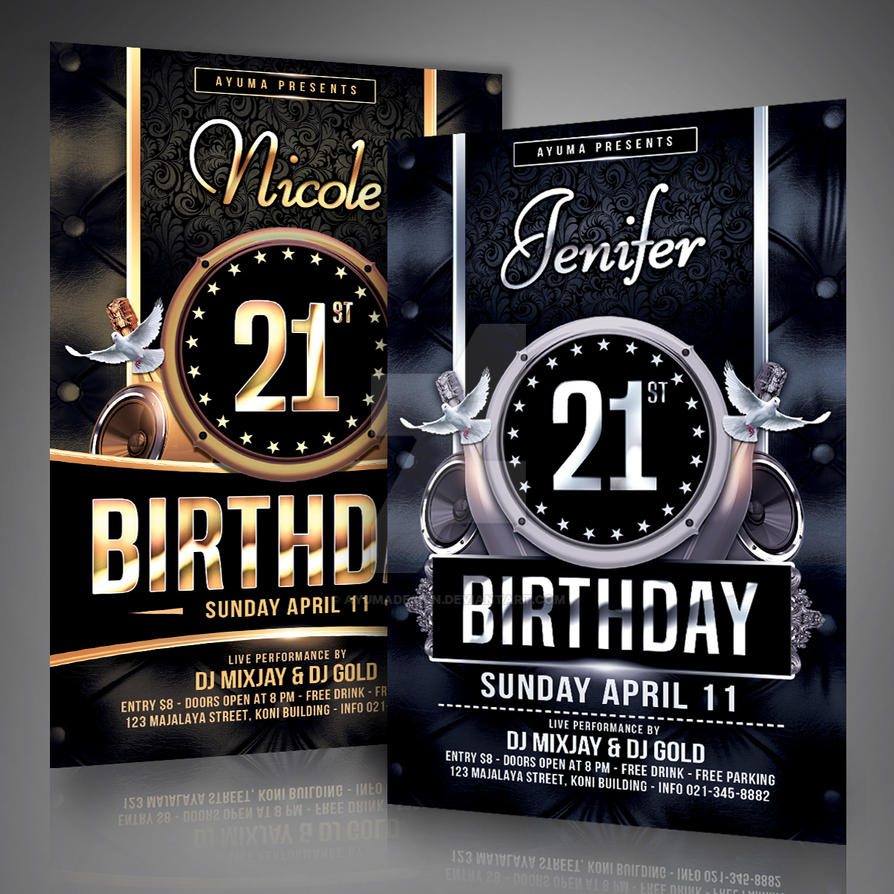 Birthday flyer template by ayumadesign on deviantart birthday flyer template by ayumadesign maxwellsz