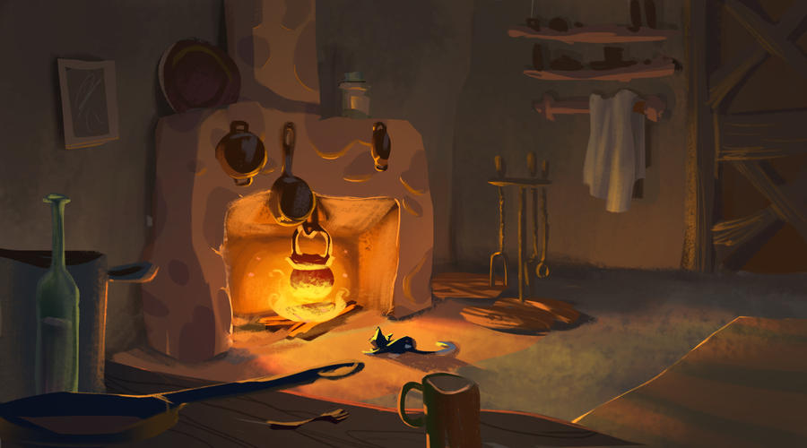 Cinderella kitchen by tun4f1sh on deviantart for Best kitchen set for 5 year old