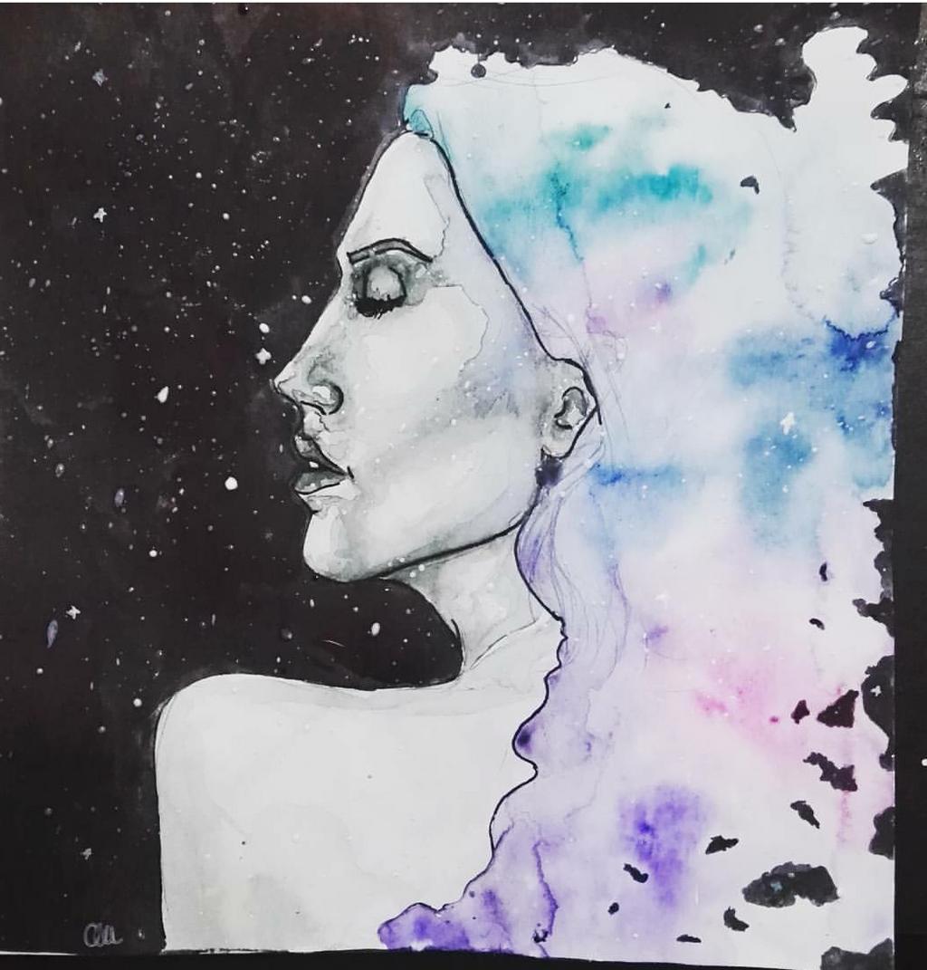watercolor woman by Alex-hime-san