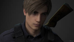 Leon RE2 Remake Portrait