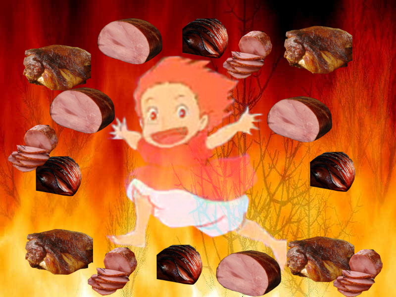 Spam With Pics 2.0 - Page 2 Ponyo__haaaaam__by_doccarpontair-d4qlk88