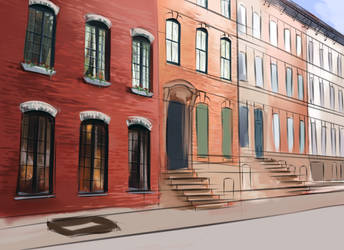 Soho Brownstones WIP by Airstelle