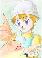 Tk And Patamon by Valaquia
