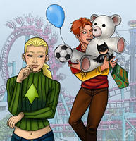 Wally and Artemis - Amusement Park