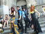 Nightwings and Bargirls Steampunk cosplay