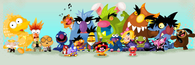 Muppets by vancamelot