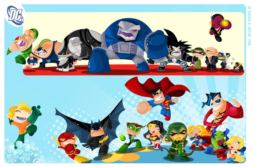 D.C Superheroes by vancamelot