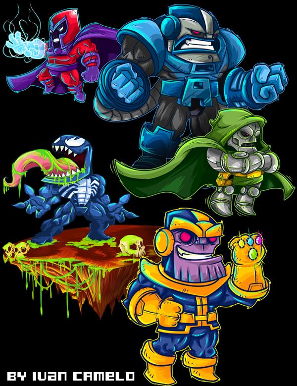 Marvel Villains by vancamelot