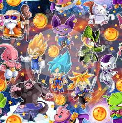Dragon Ball Tile by vancamelot