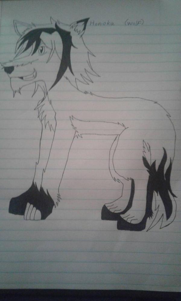 Honoka Wolf Form by SwordDancerHonokaEXE