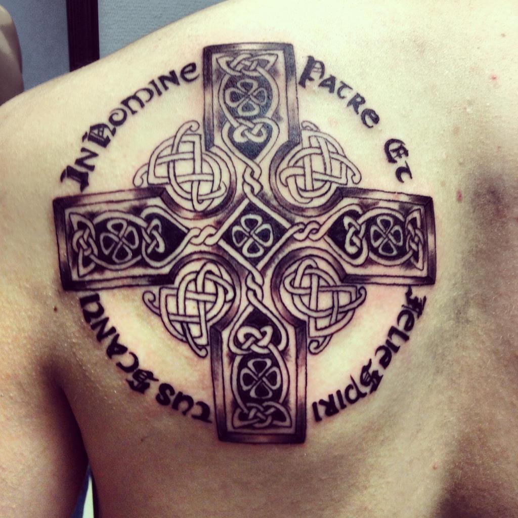Celtic cross boondock saints prayer by klockwoodtattoo on for Boondock saints tattoos