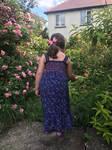 Stock girl cottage roses