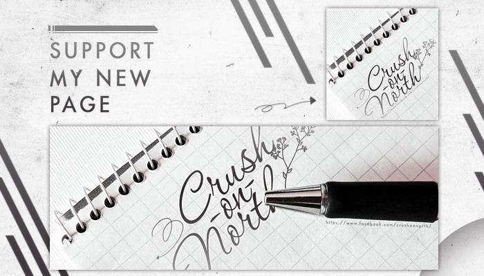 SUPPORT MY NEW PAGE /// CRUSH ON NORTH by Xioelgji1911