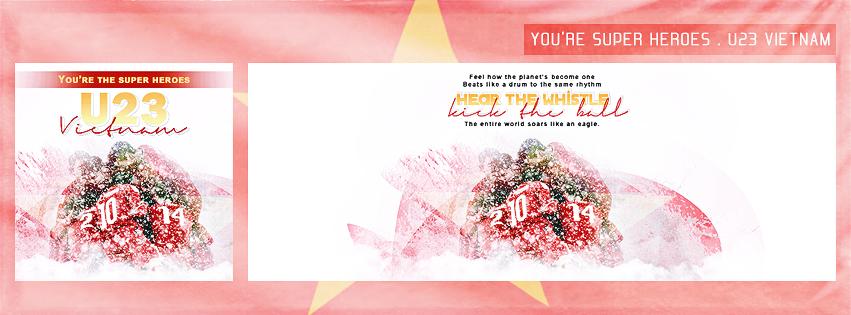 [You're super heroes . U23 VIETNAM] - Support us! by Xioelgji1911