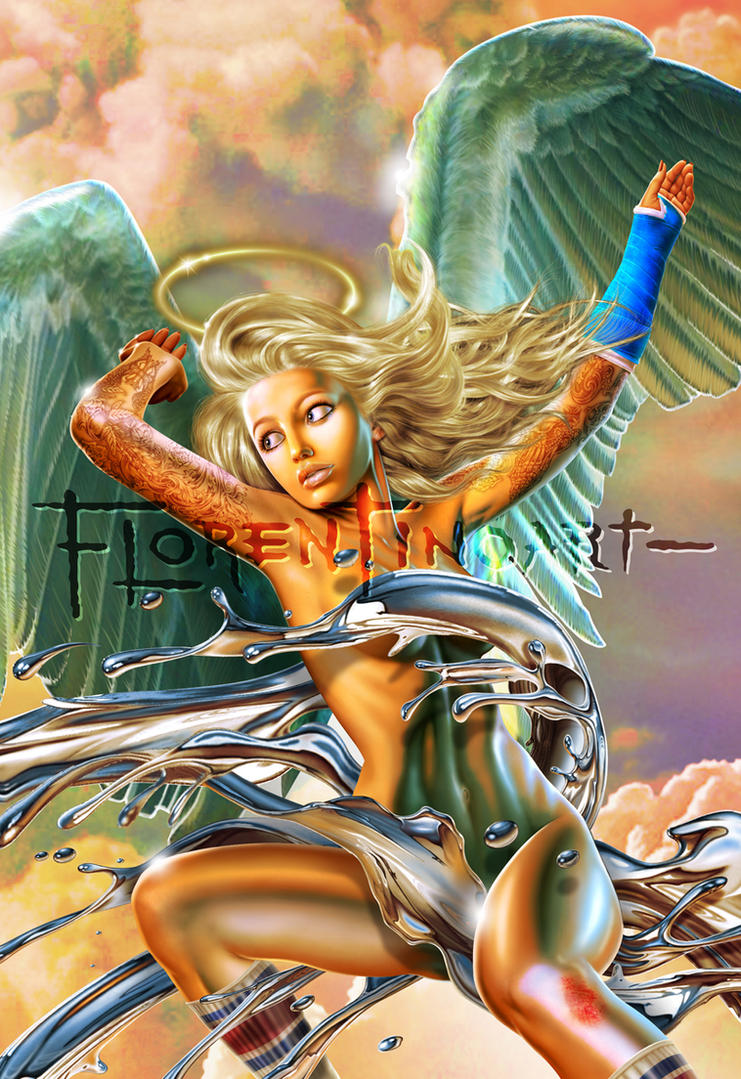 Angel Skate Sky 2 by Florentinoart