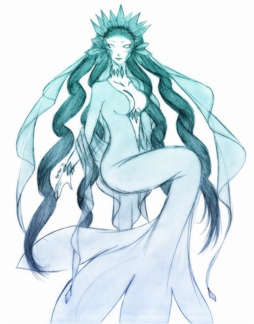 ice deity by Fortranica