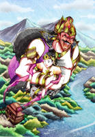 Ramayana scene test: kidnapping Sita by Fortranica