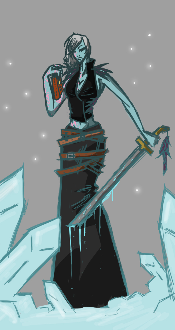 Zyn, Mistress of Shadow and Ice by Sahjin12