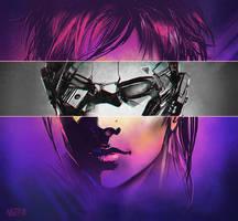 Cybergirl (or dude?..) by Ninja-Jo-Art