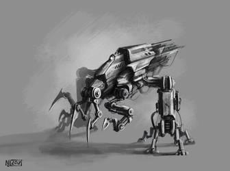 My second robot sketch by Ninja-Jo-Art