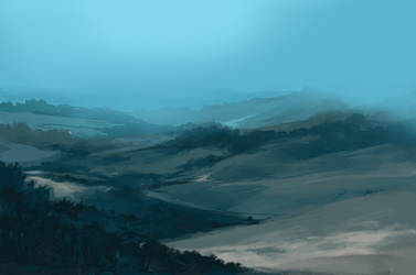 Blue landscape by Ninja-Jo-Art