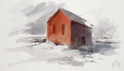 Red House by Ninja-Jo-Art