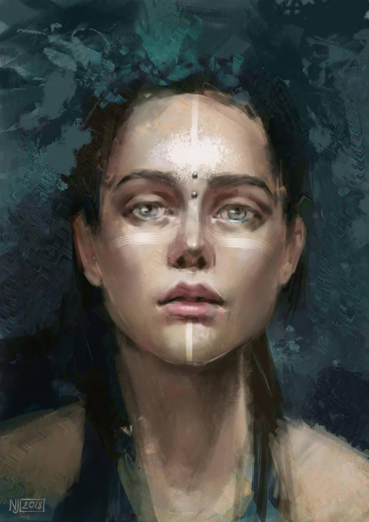 Girl Portrait by Ninja-Jo-Art
