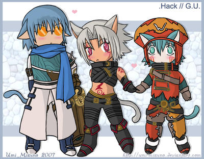dot Hack G.U - chibis Neko by Haseo-Fans