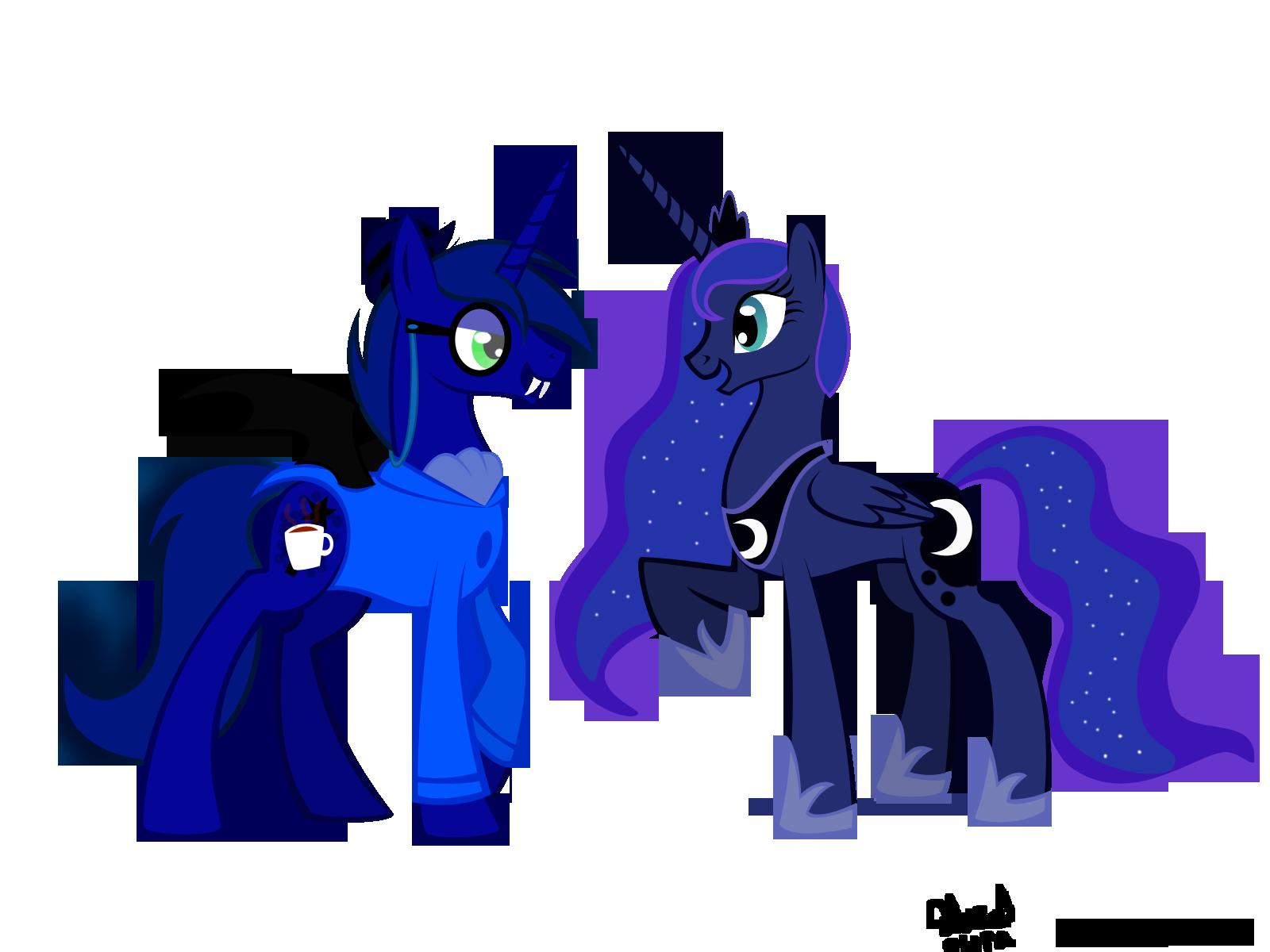 how to draw luna my little pony