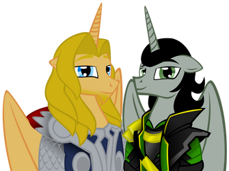 MLP: loki and thor by auveiss
