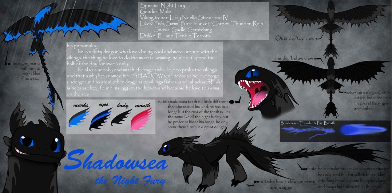 Httyd Oc Shadowsea The Nightfury Refference Sheet By