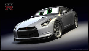 pixarized Nissan GT-R