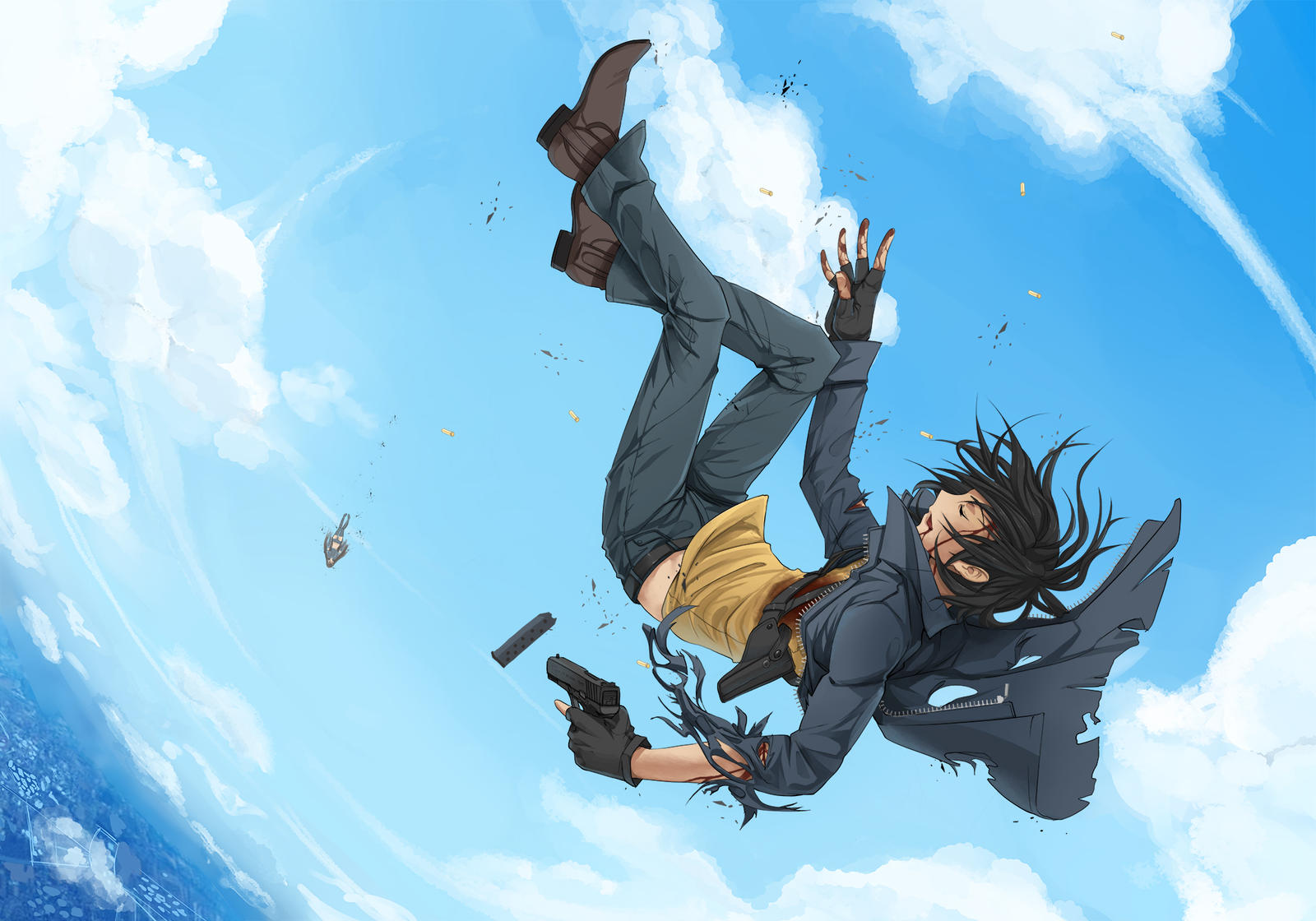 Anime Girl Falling From Sky Falling from the skyes byAnime Girl Falling Down From Sky
