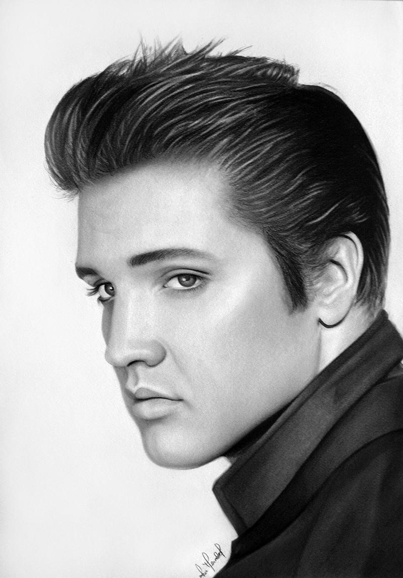 The Gallery For Gt Elvis Black And White Drawing