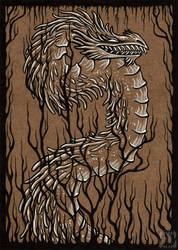Inktober '17 - Climb Dragon by novelteeth
