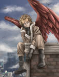 Hawks Bored on a Roof