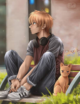 Kyo and a Cat