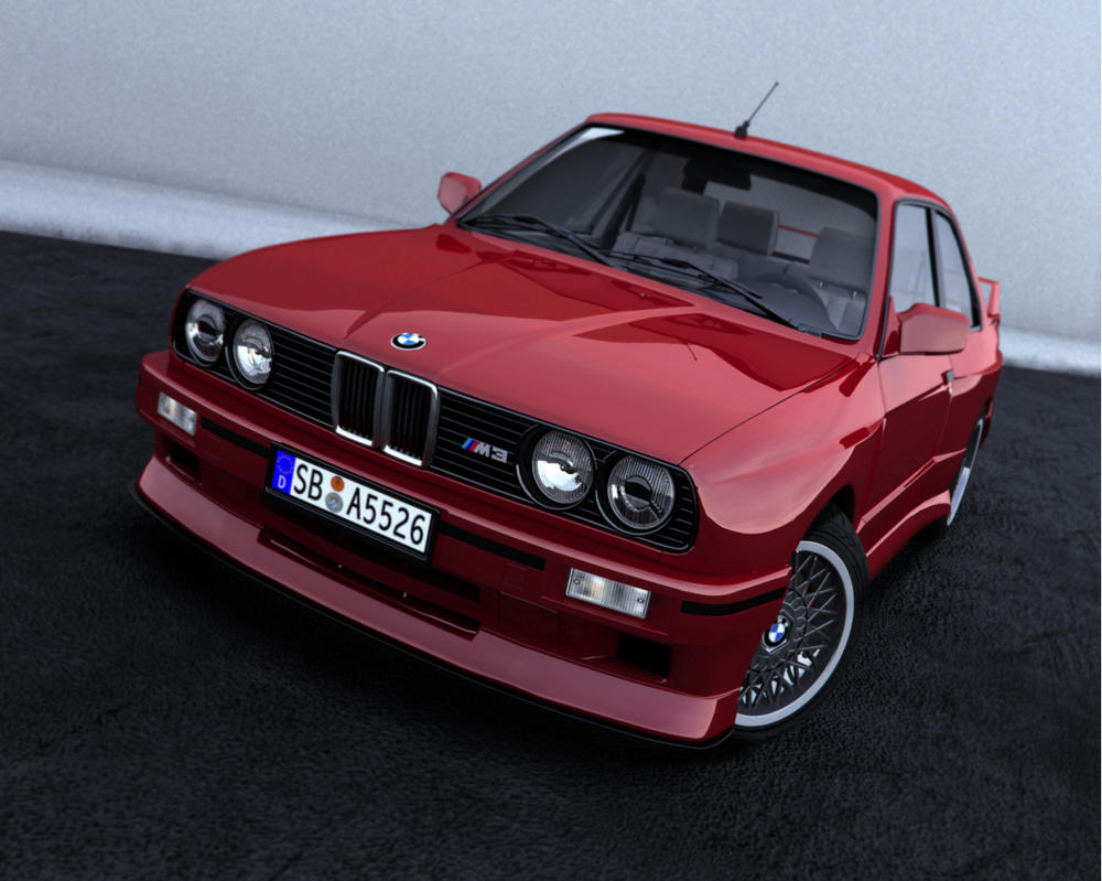 BMW E30 M3 RED by NasG85 on DeviantArt