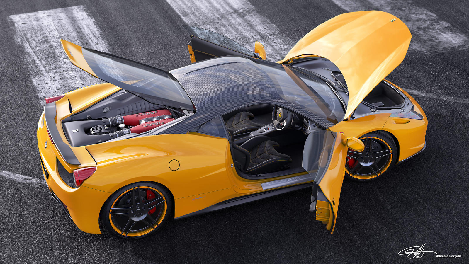 Ferrari_458italia_NovitecRosso_Runway_Yellow by NasG85