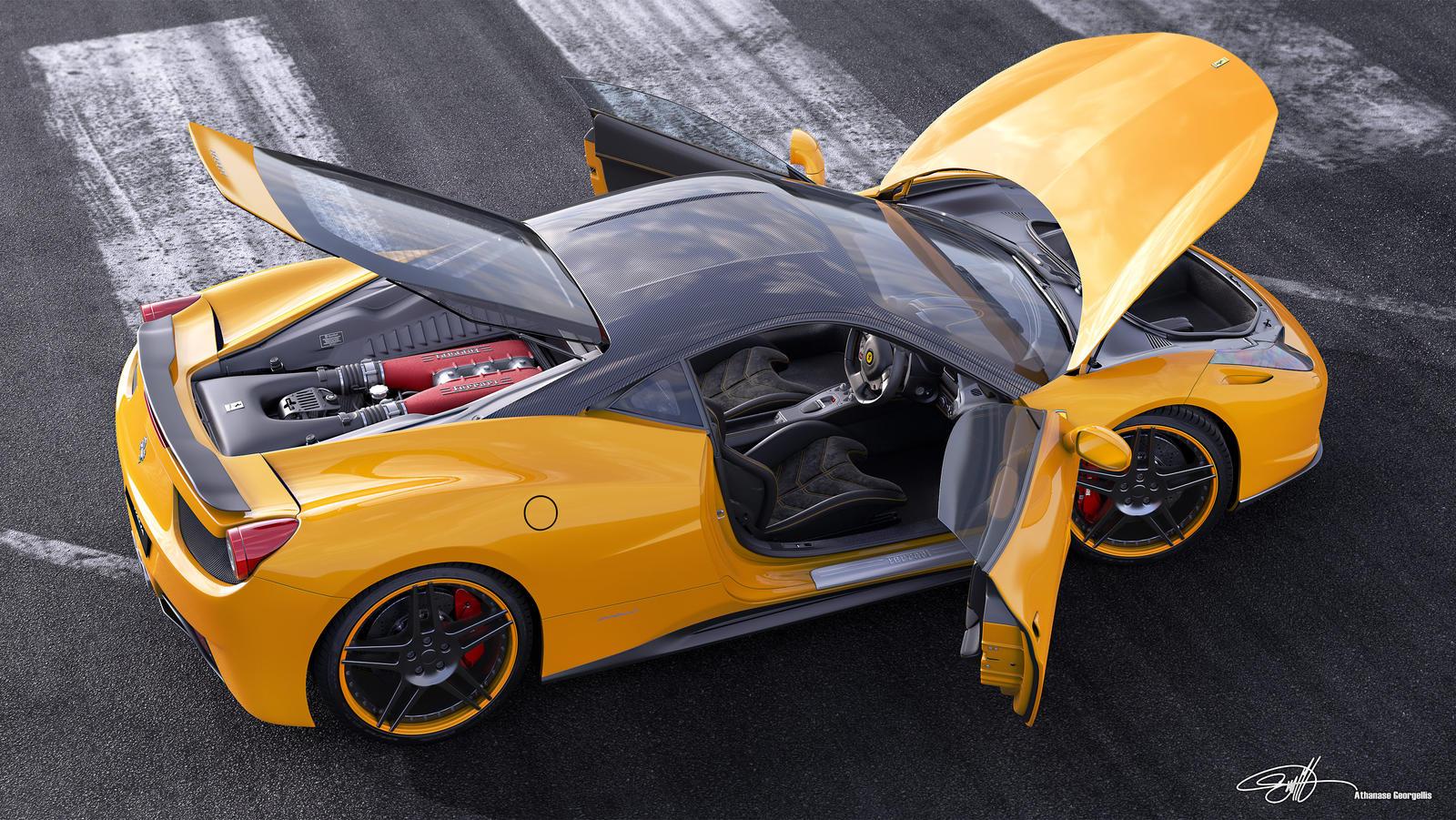 Ferrari_458italia_NovitecRosso_Runway_Yellow by NasG85