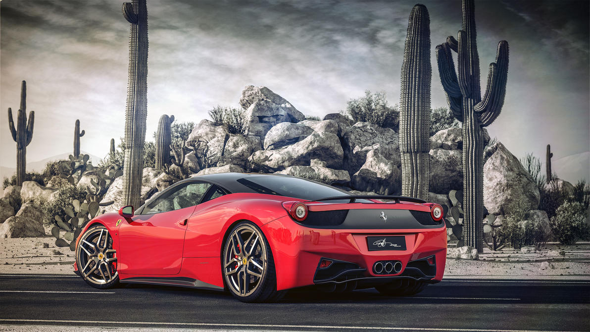 Ferrari italia 458 Desert BW by NasG85