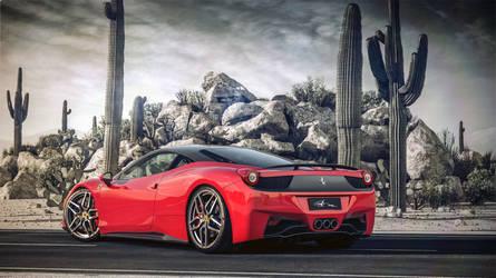 Ferrari italia 458 Desert BW