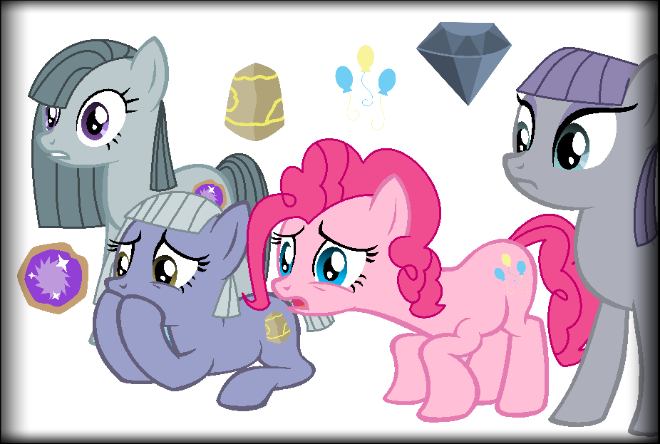 MLP: Inkie Pie, Blinkie Pie, Pinkie Pie, Maud Pie by chibinekogirl102