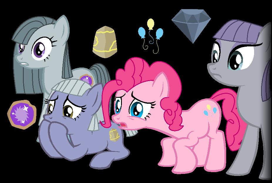 MLP: Inkie Pie, Blinkie Pie, Pinkie Pie, Maud Pie by chibinekogirl102