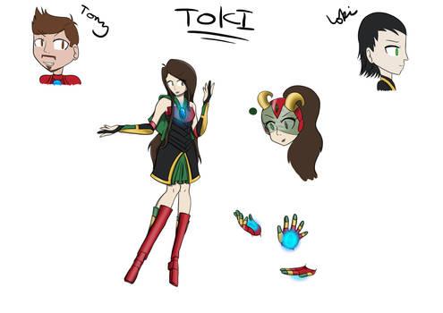 Toki - [Tony + Loki Fusion] - Reference Sheet