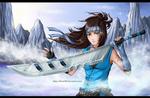 Yogiri with sword